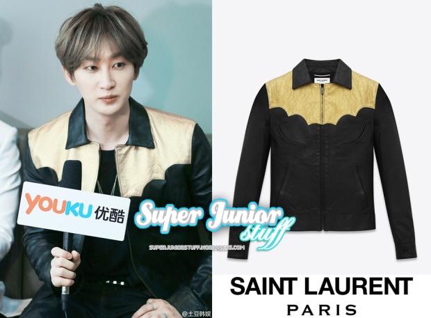 Eunhyuk in Saint Laurent Leather Jacket
