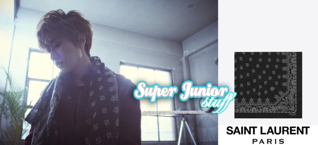 Eunhyuk in Saint Laurent Scarf